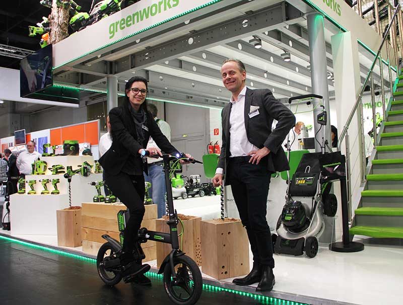 Greenworks Russia electrovel Eisenwarenmesse tools Электрический велосипед