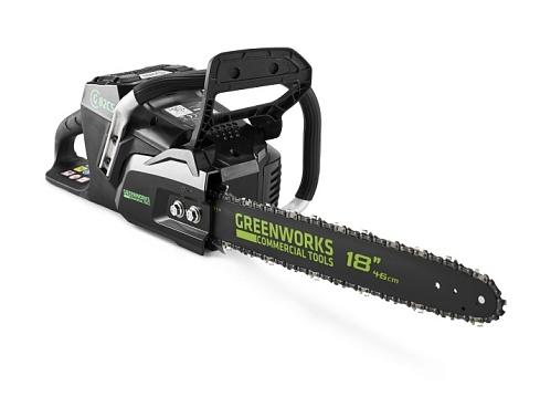 Аккумуляторная Бесщёточная Цепная пила Greenworks 82V (45 см